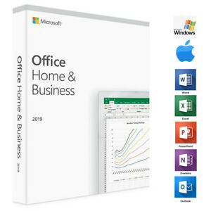 Microsoft Office Home And Business 2019 1 Device Windows Pc Mac Limited Offer 886389169381 Ebay