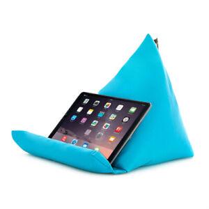 Turquoise Tablette Livre Reste Coussin Bean Sac Coussin Support Ipad Kindle Siège Jardin-afficher Le Titre D'origine