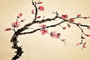chinese cherry blossom large canvas picture wall art ebay