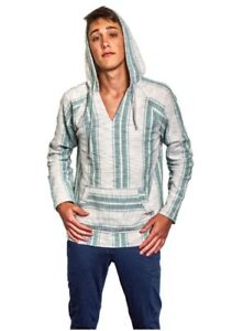 Details about BROOKLYN CLOTH Mens Poncho Hoodie Kangaroo Pocket SIZE: Small