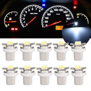 10x-T5-B8-5D-voiture-Gauge-5050-1SMD-DEL-Speedo-Dashboard-Dash-Side-ampoule-lampe