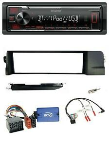 Kenwood-MP3-Lenkrad-USB-Bluetooth-Autoradio-fuer-BMW-3er-E46-98-07-Profi-Rundpin