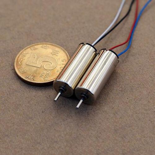2PCS 8mm*20mm DC 3.7V 4.2V 48000RPM High Speed Mini Coreless Motor DIY RC Drone