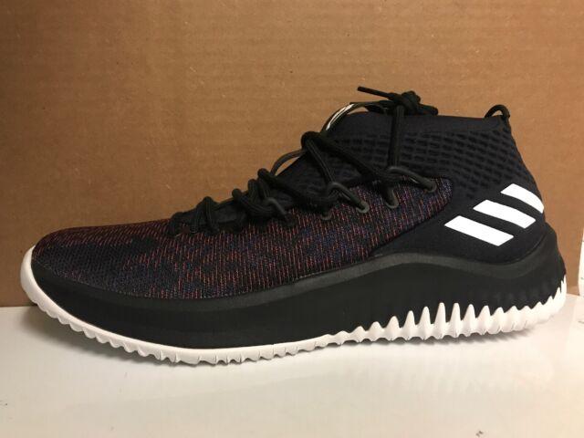 66b7962098e56 Size 11 Adidas Dame 4 Static Men's Basketball Shoes CQ0477 Core Black White