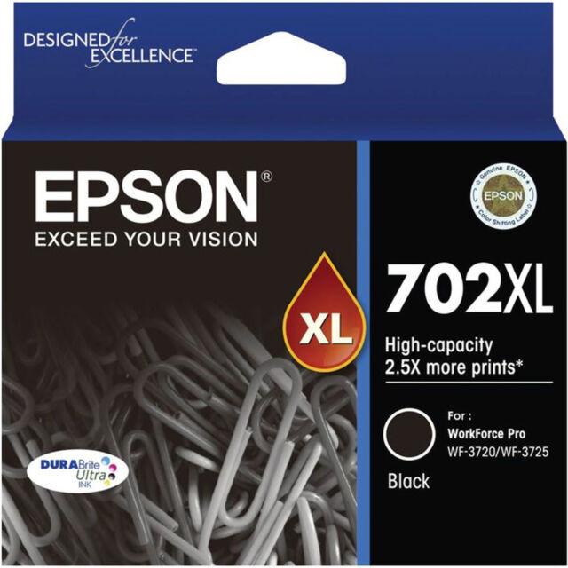 GENUINE Original Epson 702XL Black Ink Cartridge WF-3720 WF-3725 T345192