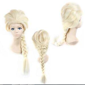 damen m dchen elsa schnee k nigin eisk nigin blond weben zopf cosplay per cke ebay. Black Bedroom Furniture Sets. Home Design Ideas