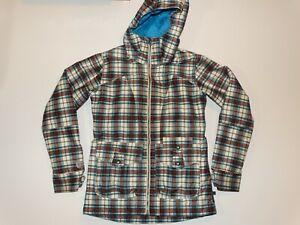 Burton Dryride Plaid Ski Snowboard Jacket Waterproof Coat Women S Size S Ebay
