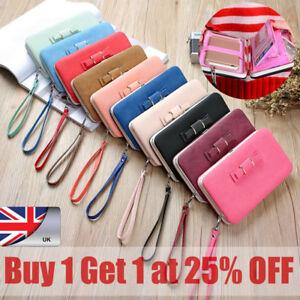 6d585675c950 Details about Women Bowknot Wallet Long Purse Phone Card Holder Clutch  Large Capacity Pocket