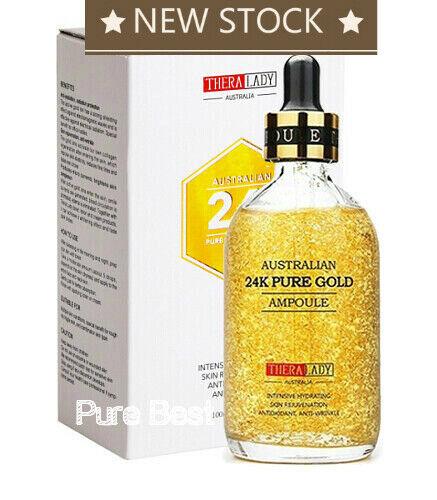 Thera Lady 24K Pure Gold Ampoule 100ml anti-wrinkle Anti-oxidation NEW STOCK