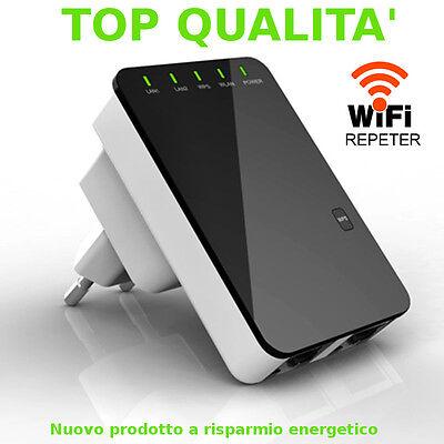 Amplificatore Segnale Wireless Wifi Repeater Ripetitore Range Extender Lan Rete