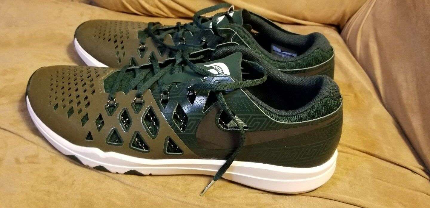 sports shoes 29124 63dbb ... size 15 men men men nike Michigan Spartans shoes running walking brand  new no box f5bbe5 ...