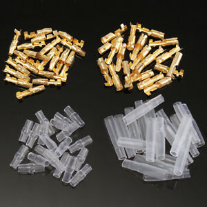 140pcs 3.9mm Car Motorcycle Brass Bullet Connector Male /& Female Wire Terminals
