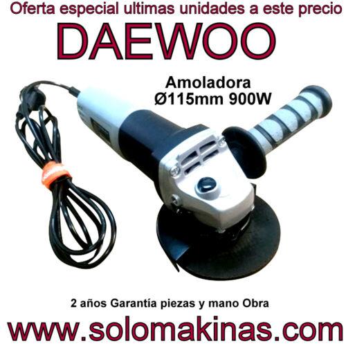 AMOLADORA ANGULAR DAEWOO 115mm 900W SOLOMAKINAS