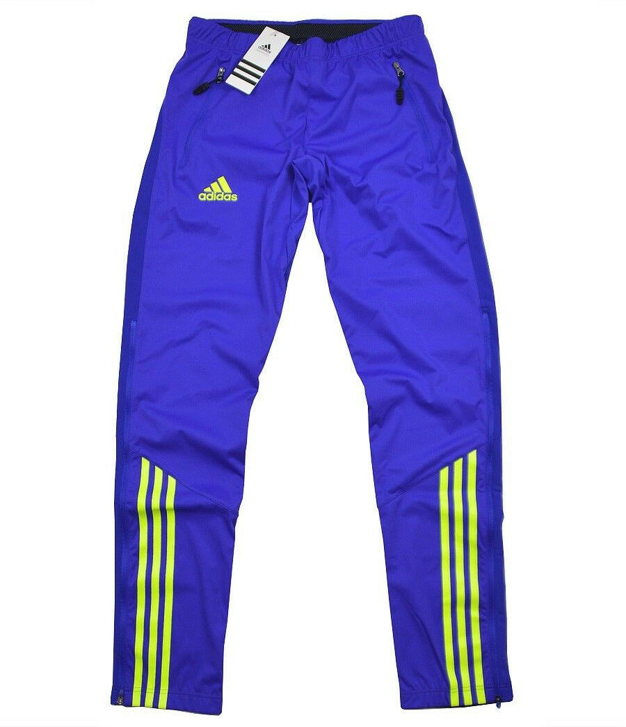 Adidas athletes Pant DSV Salopettes Warm Feel Trousers Long Running Sweat Pants Woman bluee