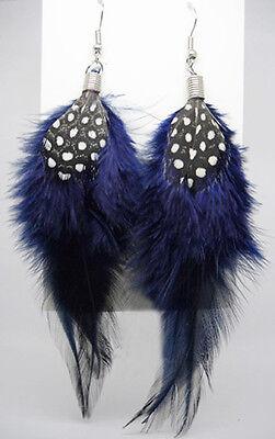 F1274F Feather Earrings Simple Dangle Eardrop Fashion Handmade Jewelry