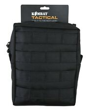 New BLACK MOLLE Compatible Large Zipped Army Utility Webbing Pouch RAF Security
