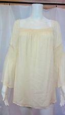bb82dad9b989f1 item 5 THEORY Womens Alterin Cream Silk Smocked Bell Sleeves Blouse Top  Size M NWT -THEORY Womens Alterin Cream Silk Smocked Bell Sleeves Blouse  Top Size M ...