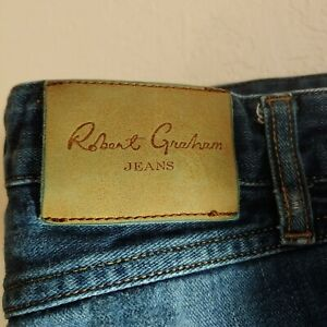 Robert-Graham-Blue-Jeans-Men-039-s-Size-32