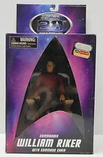 Star Trek TNG Diamond Select Toys RIKER w/ Command Chair action figure NIP