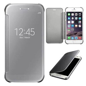 Smart-Clear-View-Mirror-Slim-Case-Flip-Pouch-Cover-for-iPhone-Samsung-Huawei-LG