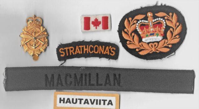 Canada  Lord Strathcona Horse LSH CF CapBadge Mapleleafs Badges Lot Named Bosnia