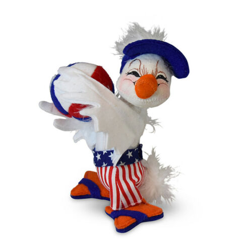 Annalee Dolls 2019 4th of July Stars and Stripes Boy Duck 6in Plush New w Tags