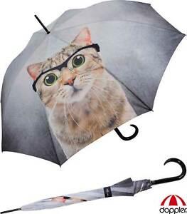 Cross Over Doppler Regenschirm Stockschirm Damen Automatik sturmsicher stabil