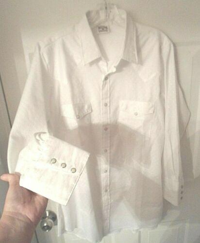 Deadstock Wahmaker Pioneer Wear Western Dress Shirt Size Large Made in USA