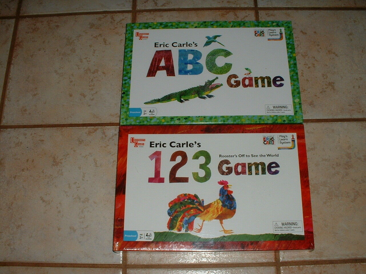 Eric Carle's 123 & ABC Preschool Educational Games New & Sealed