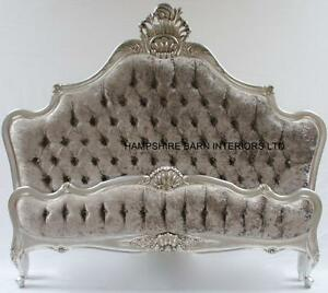 Image Is Loading Silver Leaf 6ft Super King Bed W M Mercurycrushed