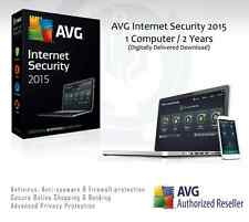 AVG Internet Security 2015 - 1 Computer / 2 Years Protection | License Key Only