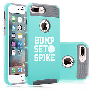 new styles 68595 98438 Details about For iPhone X SE 5 6 6s 7 8 Plus Dual Shockproof Case Bump Set  Spike Volleyball