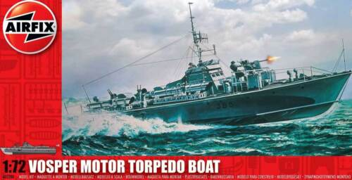 Airfix Royal Navy Vosper 73ft M.T.B Motor Torpedo Boat Modell-Bausatz 1:72 kit
