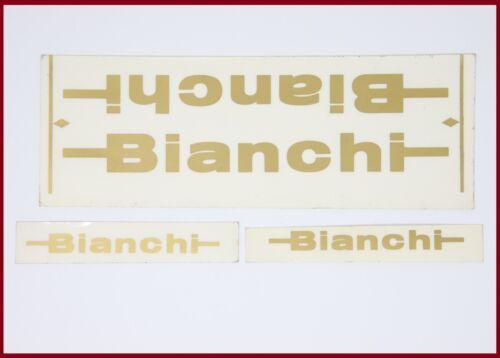 NOS BIANCHI ORIGINAL DECAL SET 70S 80S GOLD COLOR VINTAGE