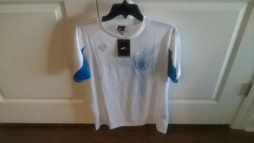 black Men/'s athletic shirt polyester size large L Lsong climacool in white red