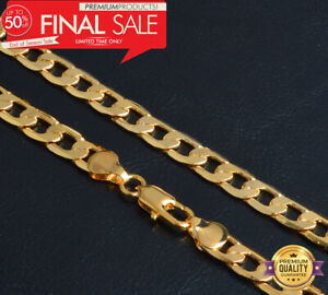 Goldkette-8MM-breit-50cm-lang-Maenner-Panzerkette-vergoldet-Herren-Damen-Hip-Hop