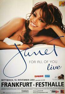 JANET-JACKSON-2001-FRANKFURT-orig-Concert-Poster-Plakat-A1-F-U-664