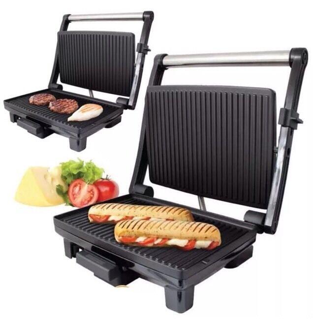 1200 W Multi Fonction Sandwich & Panini Presse Grill Cool Touch Poignée Antiadhésif