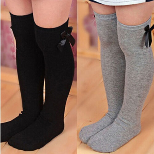 Stylish Girls Kids Knees High Length Socks with Organza Bow 1-8 years 4 Colours
