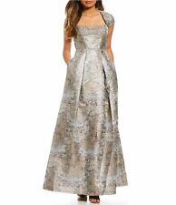 17df1793deb item 6 NEW  750 AIDAN MATTOX WOMENS SILVER BEADED JACQUARD CAP-SLEEVE GOWN  DRESS SIZE 4 -NEW  750 AIDAN MATTOX WOMENS SILVER BEADED JACQUARD CAP-SLEEVE  GOWN ...