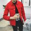 Men-Casual-Retro-Denim-Jean-Jacket-Spring-Loose-Nightclub-Bar-Coat-Outwear-New thumbnail 7