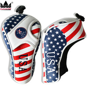 USA-Flag-Golf-Fairway-Wood-Cover-Headcover-For-Callaway-Taylormade-Titleist-Ping