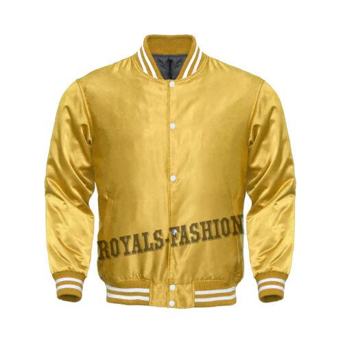 adornos con Cazadora de toda satén estilo satén de estilo bandolera blanco la de color béisbol chaqueta xqrBqtS