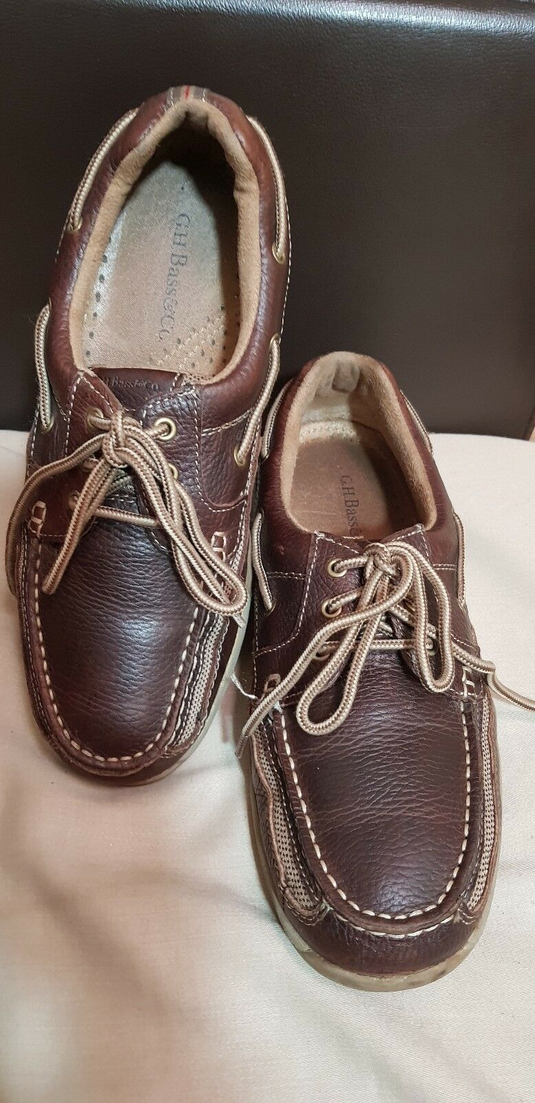 G.H.BASS&CO Brown Men's Leather Men's Brown shoes -size / 2cac43