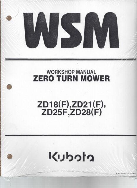 Marvelous Kubota Zd18 Zd21 Zd25 Zd28 Workshop Service Manual 9Y021 15062 Wiring Database Gramgelartorg
