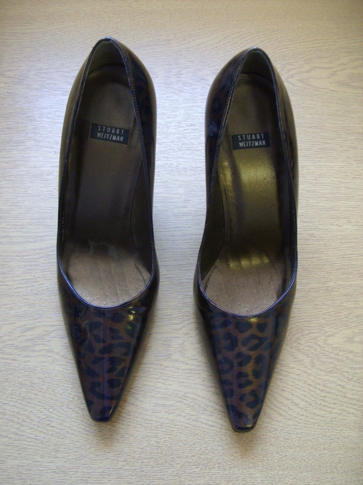 Ladies shoes Stuart Weitzman brown animal print courts UK 4.5 EU 37.5, used 3264