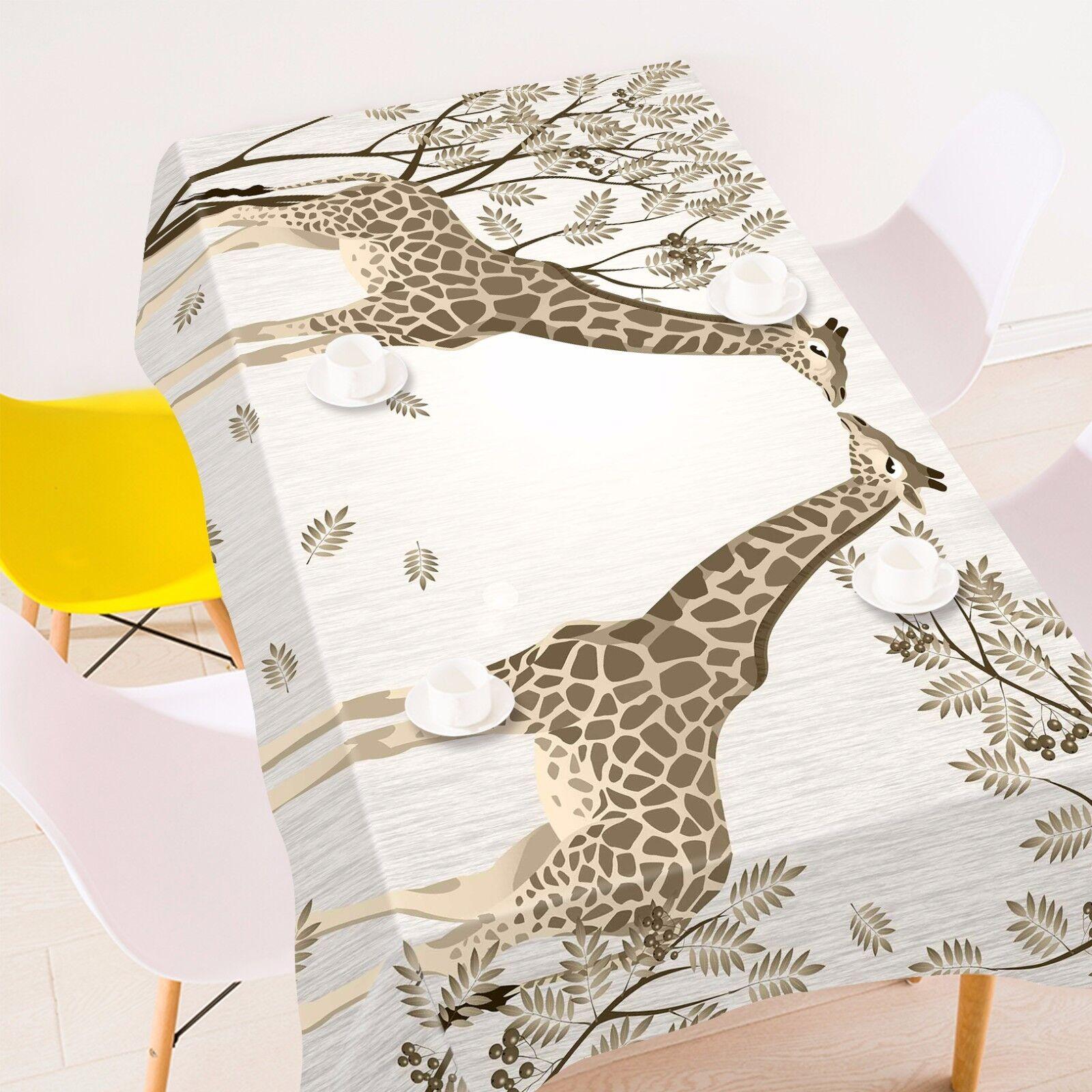 3D Girafe 5 Nappe Table Cover Cloth fête d'anniversaire AJ papier peint Royaume-Uni Citron