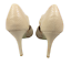 thumbnail 6 - Womens Ladies Beige Faux Leather High Heel Party Court Shoes Size UK 5 New