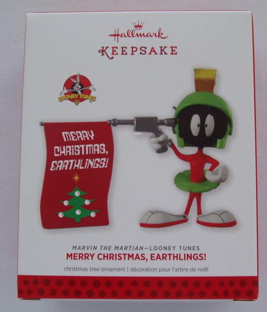 Hallmark 2013 Looney Tunes Marvin the Martian Earthlings Christmas Ornament