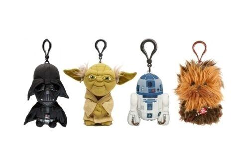 "R2-D2 Chewbacca Yoda Darth Vader BB8 STAR Wars Mini 4/"" PARLANTE PELUCHE PORTACHIAVI"